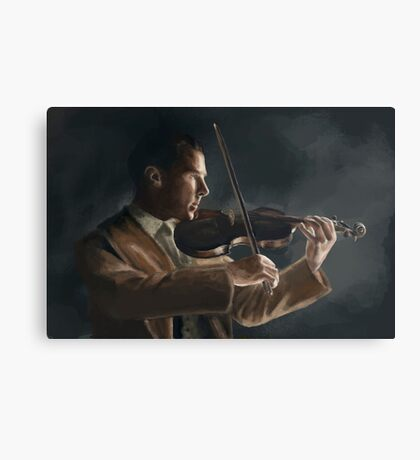 Sherlock with his Violin Canvas Print