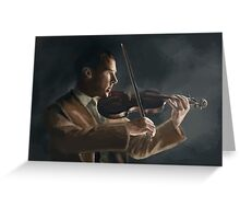Sherlock with his Violin Greeting Card