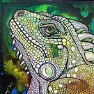 Green Iguana by Lynnette Shelley