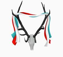 Deer Head With Patriotic Ribbons Unisex T-Shirt