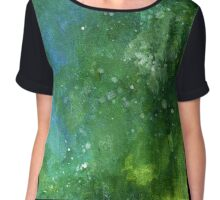 Moody Space Clouds Chiffon Top