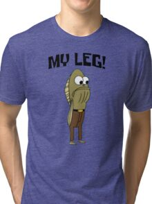 Fred The Fish: My Leg! - Spongebob Tri-blend T-Shirt