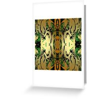 Gold Leaf Layers Abstract  Greeting Card