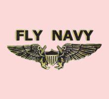 Naval Flight Officer Wings One Piece - Long Sleeve