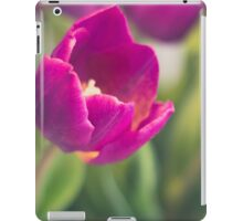 purple tulips macro - beautiful flower closeup iPad Case/Skin