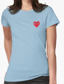 Comme Des Garcons Heart Womens Fitted T-Shirt