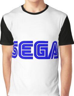 Blue Sega Logo Graphic T-Shirt