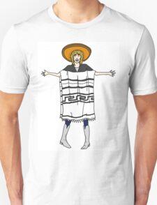 Poncho Vince Noir Unisex T-Shirt