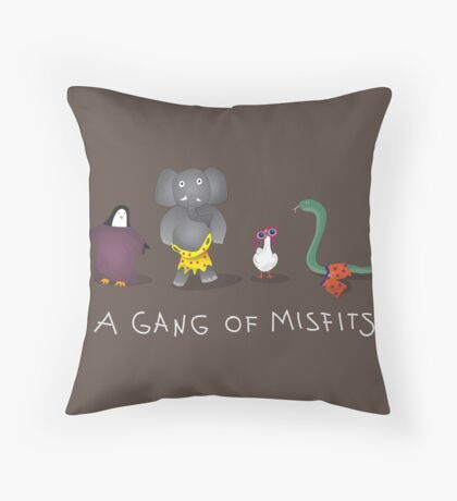 A gang of misfits Throw Pillow