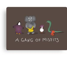 A gang of misfits Canvas Print