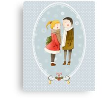 Lovers In The Snow Canvas Print