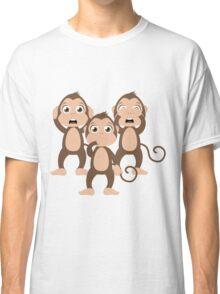 Three wise monkeys Classic T-Shirt