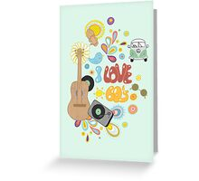 I Love the 60's Greeting Card