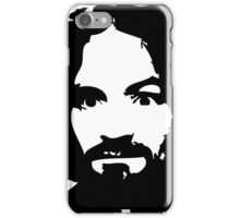 Charles Manson Face. iPhone Case/Skin