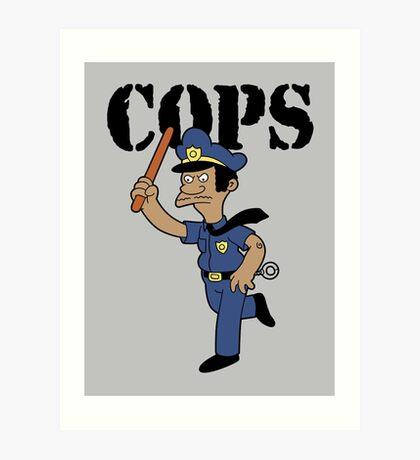 Springfield Cops Art Print