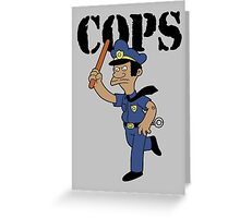 Springfield Cops Greeting Card