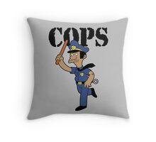 Springfield Cops Throw Pillow