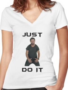 Just do it Shia Labeouf Women's Fitted V-Neck T-Shirt