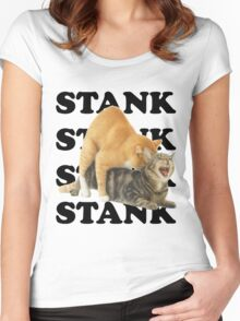 STANK CAT hoot SWAGGIN hoot SHIRT AIGHT Women's Fitted Scoop T-Shirt