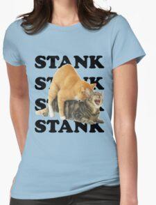 STANK CAT SEX SWAGGIN ASS SHIRT AIGHT Womens Fitted T-Shirt