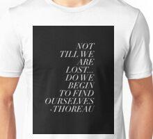 Thoreau Quotation Find Ourselves Quote Unisex T-Shirt
