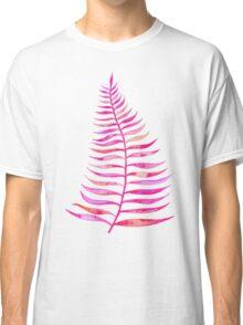Pink Palm Leaf Classic T-Shirt