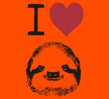 I Love Sloths Kids Tee