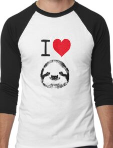 I Love Sloths Men's Baseball ¾ T-Shirt