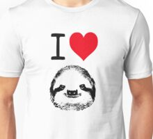 I Love Sloths Unisex T-Shirt