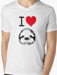 I Love Sloths Mens V-Neck T-Shirt