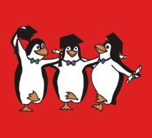 Graduation Penguins  One Piece - Long Sleeve
