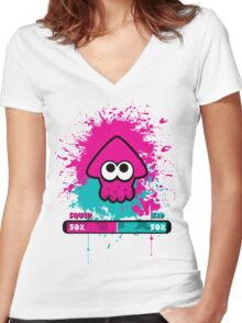 Kid or Squid Splatoon Women's Fitted V-Neck T-Shirt