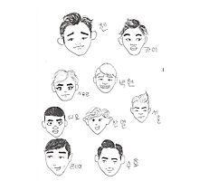 Cartoon Exo Photographic Print