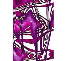 Violet & Purple abstract Photographic Print