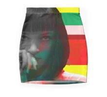 Mia Wallace Glitch Mini Skirt