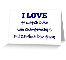 I Love . . .  Greeting Card