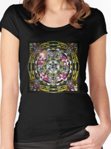 THE TEMPLE OF SOUL EYE MAN Women's Fitted Scoop T-Shirt