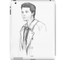 Castiel sketch a la season 4 iPad Case/Skin