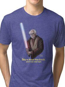 Help us Bernie-Wan Kenobi! Tri-blend T-Shirt