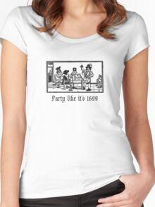 PartyLikeIt's1699 Women's Fitted Scoop T-Shirt