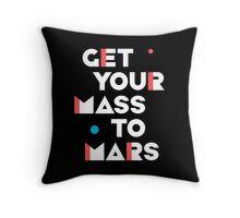 Get Your Mass to Mars (Modern/Light) – Pillows & Totes Throw Pillow