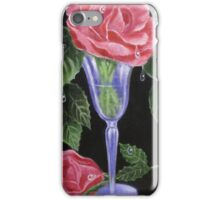roses and a wine glass iPhone Case/Skin