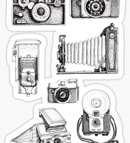 Vintage Camera Collection Sticker