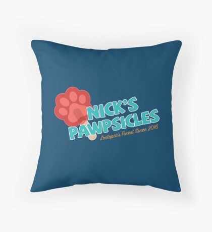 Nick's Pawpsicles Throw Pillow