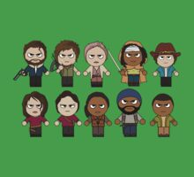 The Walking Dead - Main Characters Chibi - AMC Walking Dead Kids Tee