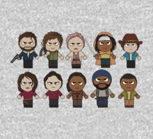 The Walking Dead - Main Characters Chibi - AMC Walking Dead One Piece - Long Sleeve