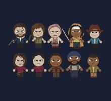 The Walking Dead - Main Characters Chibi - AMC Walking Dead Kids Tee
