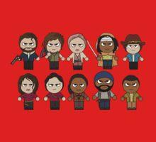 The Walking Dead - Main Characters Chibi - AMC Walking Dead Baby Tee
