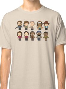 The Walking Dead - Main Characters Chibi - AMC Walking Dead Classic T-Shirt