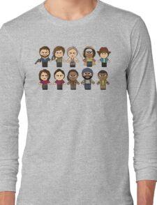 The Walking Dead - Main Characters Chibi - AMC Walking Dead Long Sleeve T-Shirt